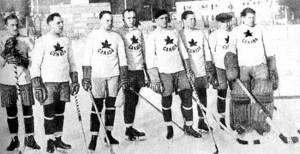 На турнире по хоккею первой Белой Олимпиаде в Шамони - фото